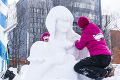 Make Snow sculpture Royalty Free Stock Photos