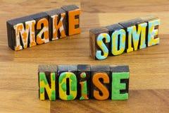 Free Make Some Noise Be Different Unique Original Distinct Proud Smart Stock Image - 172680311