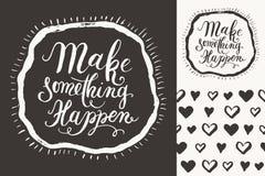 Make something happen Royalty Free Stock Image