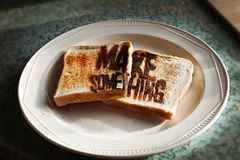Make Something with Toast Royalty Free Stock Images