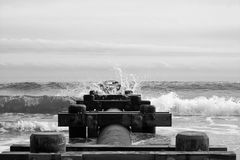 Make a Splash in Monochrome royalty free stock images
