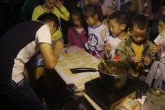 Make Sugar sculpture in Taiwan night market Food Festival in SHENZHEN Stock Photography
