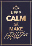 Make Tattoo Typography Stock Photography