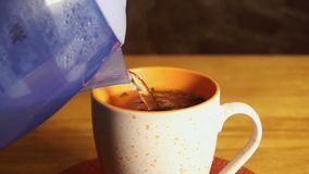 Make tea of boiling water. To make tea of boiling water stock video