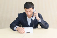 Make a telephone call Royalty Free Stock Images