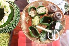 Make Thai style flower decoration Royalty Free Stock Image
