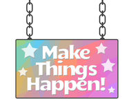 Make Things Happen Colorful Stripes Royalty Free Stock Images