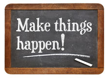 Make things happen Royalty Free Stock Photography