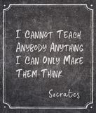 Make think Socrates quote royalty free stock photo