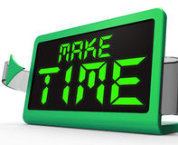 Make Time Clock Means Fit In What Matters Stock Photo