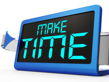 Make Time Clock Shows Scheduling And Planning. Make Time Clock Showing Scheduling And Planning Royalty Free Stock Photo