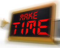 Make Time Digital Clock Means Fit In What Matters Stock Image