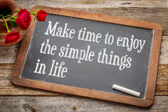 Make time to enjoy simple things Stock Photo