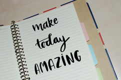 Make today amazing inspirational message Stock Photos