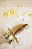 Make tortellini pasta royalty free stock photography