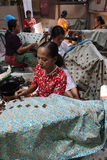 Make Traditional Cloth called Batik Stock Image