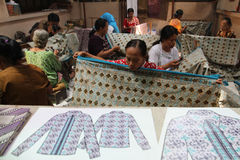 Make Traditional Cloth called Batik Royalty Free Stock Images