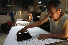 Make Traditional Cloth called Batik Royalty Free Stock Photo