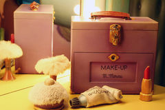 Make-Up. Minnie Mouse's Make-up kit Stock Images