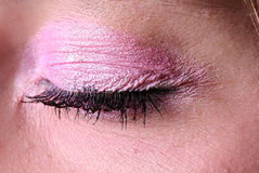 Make-up. The make-up eye and eyelashes close up Stock Photo