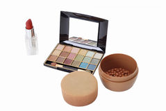 Make up. Collection of make up cosmetics Royalty Free Stock Image