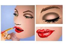 Make -Up. A make-up artist visual guide Royalty Free Stock Photo