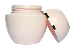 Make-up. Jar with a cream on a white background Stock Photo