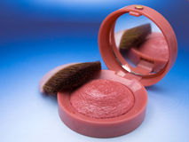 Make-up. And brush,closeup Royalty Free Stock Images