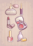 Make-up. Set of different cosmetics. make-up Royalty Free Stock Image