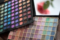 Make-up accessories. Make-up professional colour accessories. For women Royalty Free Stock Photo