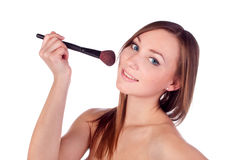 Make-up, apply, tools, brush Stock Photos