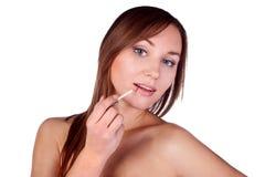 Make-up, apply, tools, brush Stock Photo