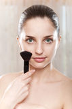 Make-up applying Royalty Free Stock Photo