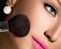 Make-up Applying closeup Stock Photography