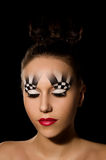 Make-up art in the form of chessboard Royalty Free Stock Photo