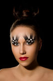 Make-up art in the form of chessboard Royalty Free Stock Images