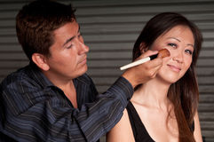 The Make-up artist Royalty Free Stock Photography