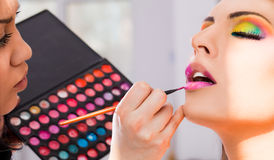 Make-up artist Stock Images