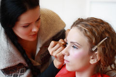 Make up artist Royalty Free Stock Image