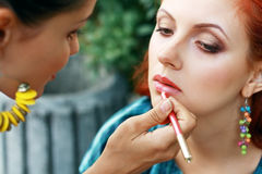 Make-up artist Royalty Free Stock Image