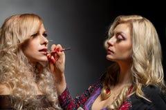 Make-up artist Stock Image