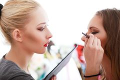 Make-up artist Stock Photography