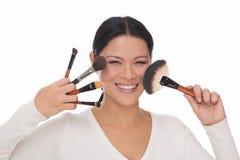Make up artist isolated on white Stock Image