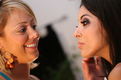 Make-Up Artist and Model Stock Photos