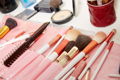 Make up artist set Stock Photo