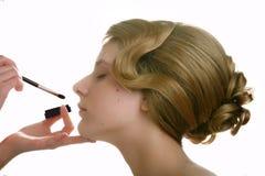 Make-up artist work Stock Images