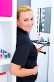 Make up artist at work Royalty Free Stock Image