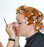 Make up artist at work Stock Photography