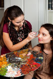 Make-up artist working Royalty Free Stock Photography