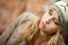 Make up autumn girl Royalty Free Stock Images
